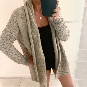 VINCE CABLE KNIT CHUNKY SUPER SOFT OPEN CARDIGAN